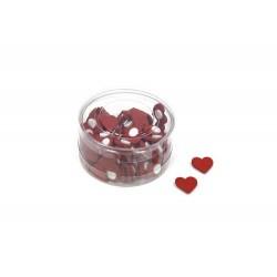 Caja 100 sticker corazón