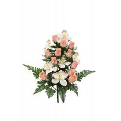 Pomo de rosas y orquidea x 17