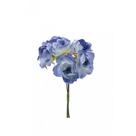 Bolsa de 12 pomos flor papel x 6 flores