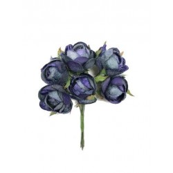 Bolsa de 10 pomos x 6 flores terciopelo