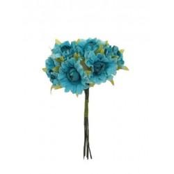 Bolsa de 10 pomos x 6 flores tela