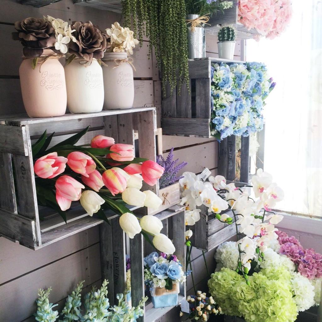 Ideas de centros con flor artificial