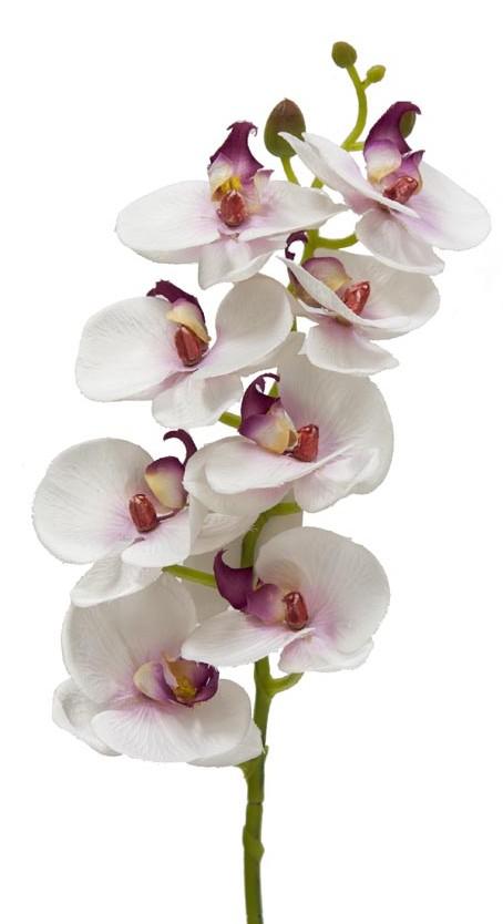"""Orquídea artificial de material """"Real Touch"""""""